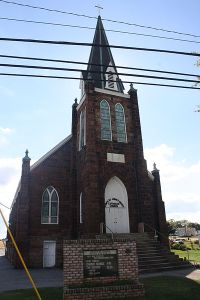 Zion's and St. John's Reed Church, Stouchsburg, PA. Built on land donated by Leonhart Rieth.