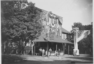 """American House Hotel August 1907 during """"Old Home Week."""" Courtesy of the Berks County Historical Society."""